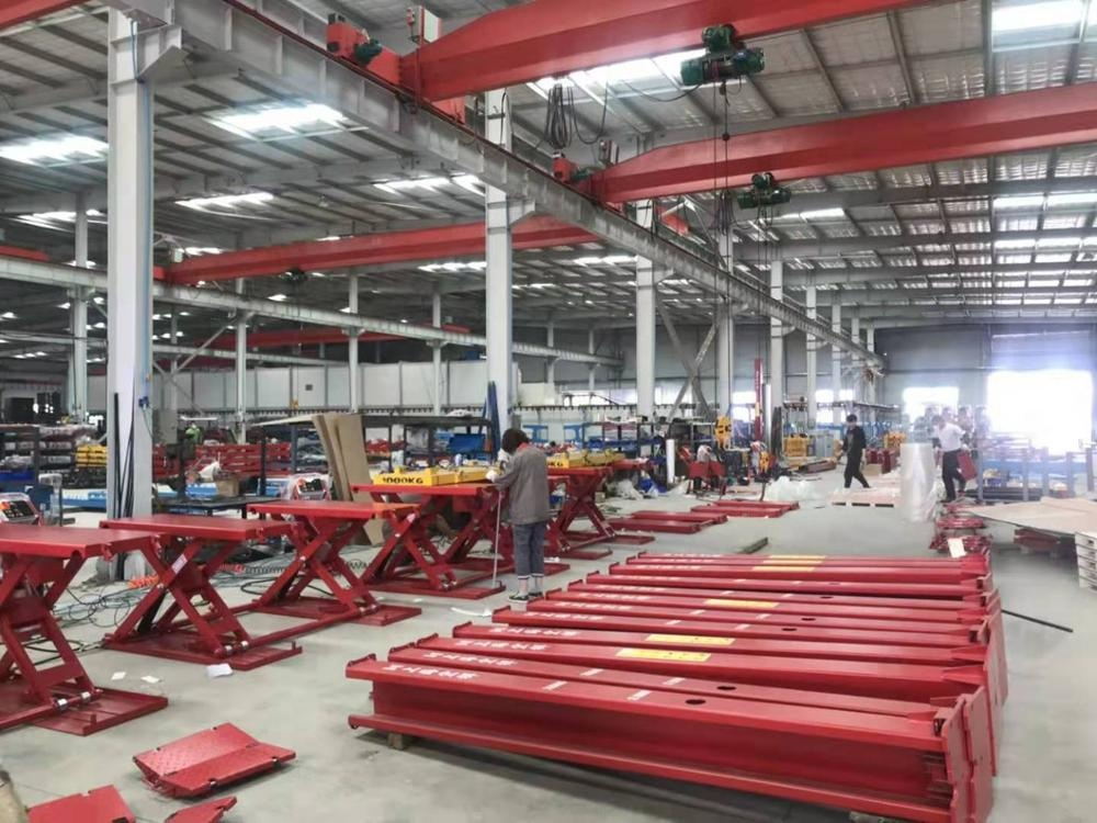Surface mounting Portable Mid-rise Scissor Lift