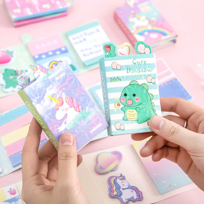 Animal unicorn sticky notes kid learning tools Korean Kawaii rainbow memo sticky note