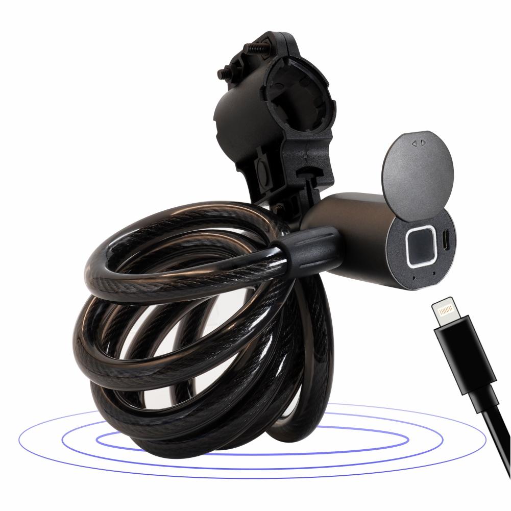 Водонепроницаемый велосипедный замок IP66 со сканером отпечатков пальцев и смарт-замком