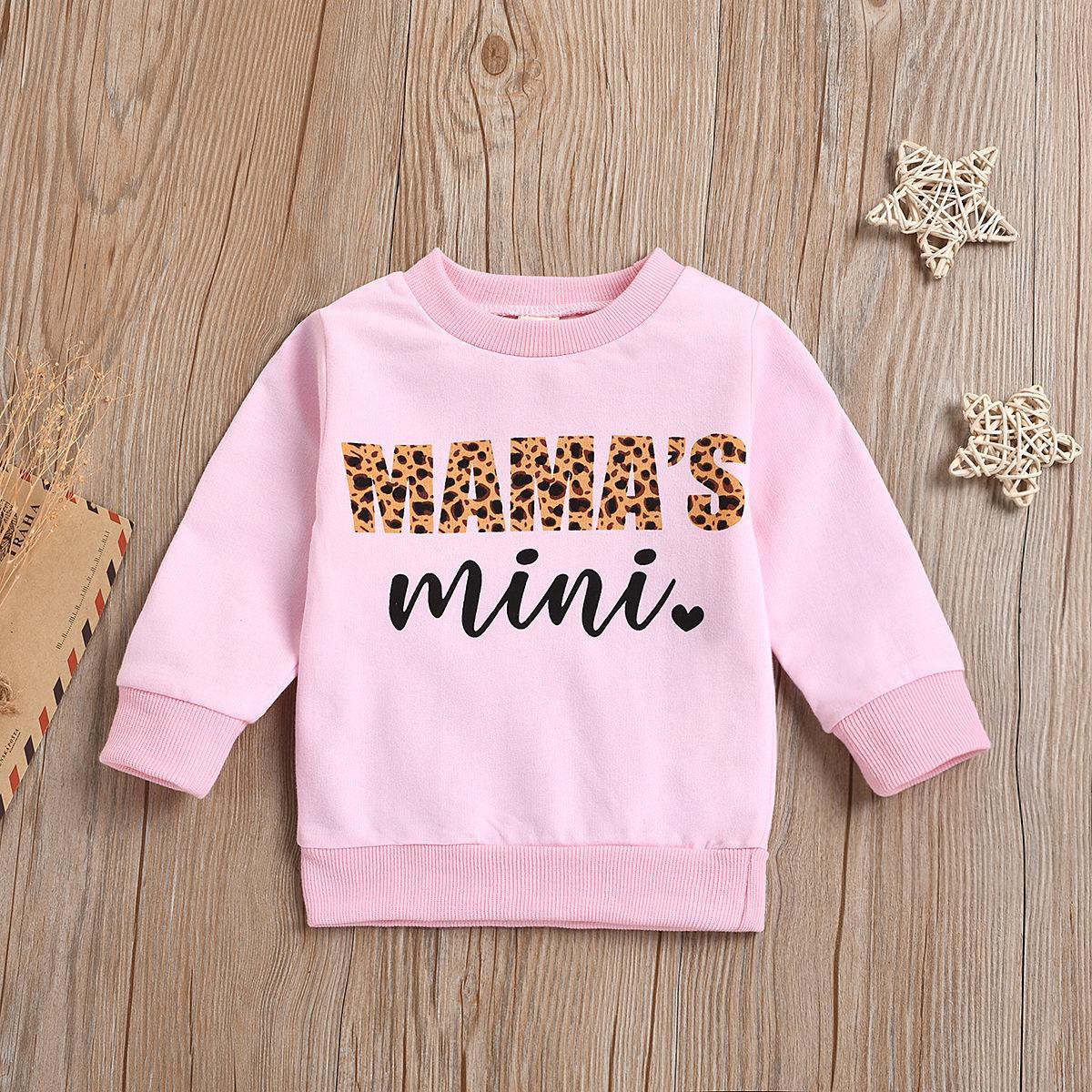 Осенне-зимняя одежда для малышей, Детский свитер с длинным рукавом и принтом для девочек, пуловер, Топ