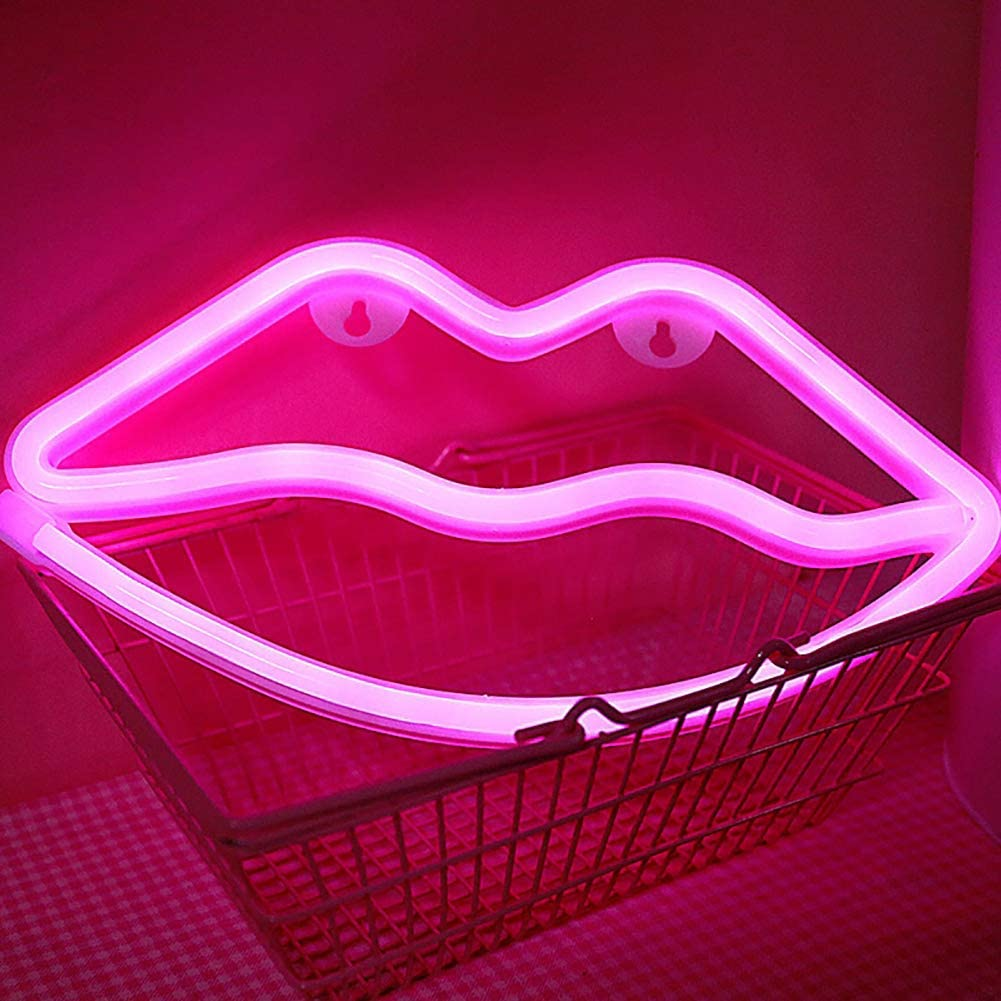 SHENPU Custom Made Lip Led Neon Sign Acrylic Led Neon Sign Light neon sign heart for Room Decoration