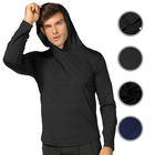 Free Samples Workout Quick Dry Bodybuilding Muscle Fit Pullover Tops Hoodies For Men