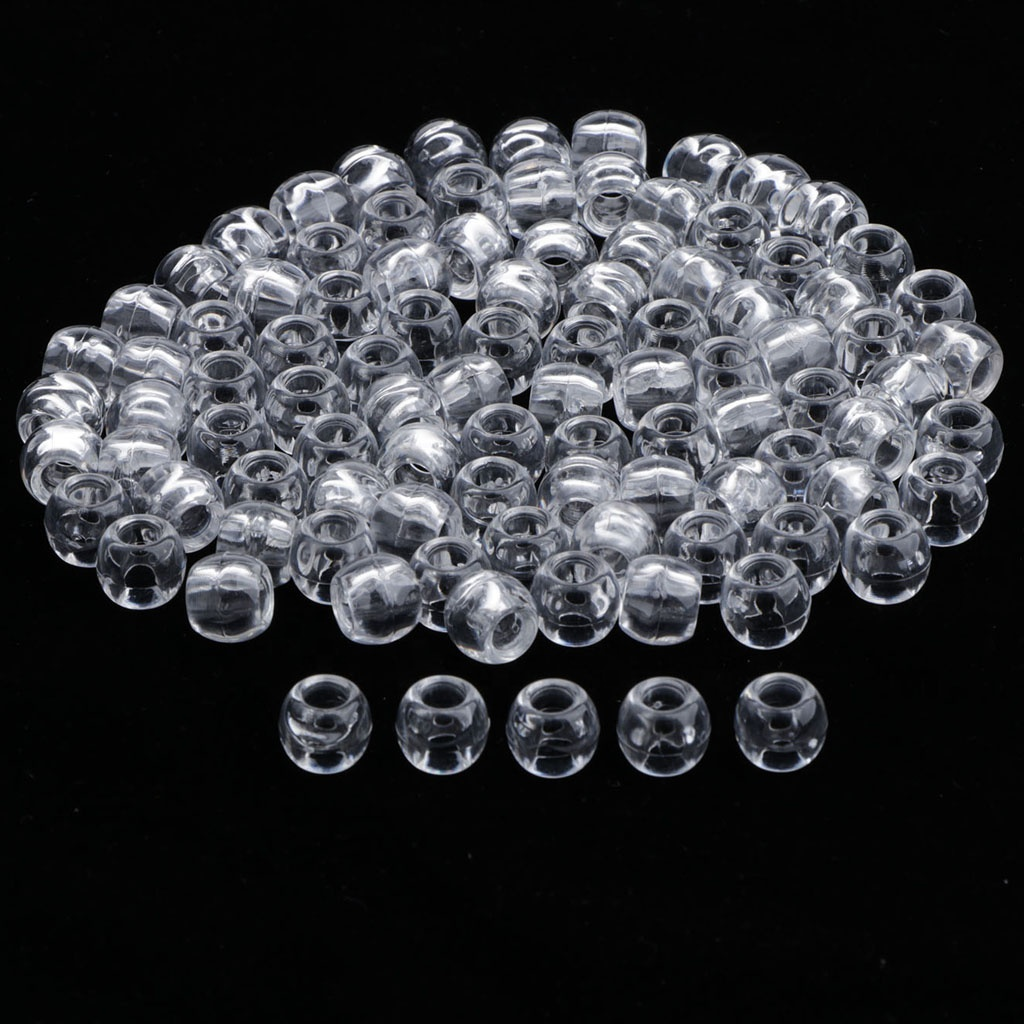 Free Shipping 50pcs 12mm Transparent Clear Plastic Hair Beads For Dreadlock Hair Accessories