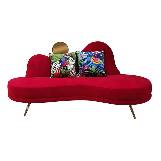 Новейшая модель; Лидер продаж украшения дома мебель с зеркалом для отдыха 3 места красный королевский диваны для гостиной