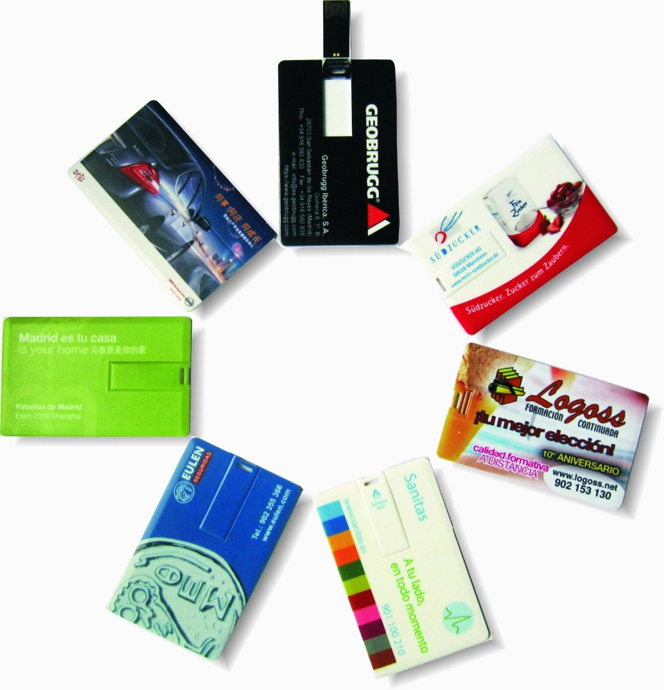 USB 2.0 interface business gift customized logo printing 16GB bank debit card usb flash memory drive - USBSKY | USBSKY.NET