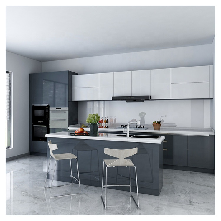 Water Resistant Black White Kitchen Cabinet Sets With Islands Designs Cabinets Buy 2 Tone Water Resistant Kitchen Cabinet Design Sample Black And White In South Africa Shangdong Cheap Kitchen Cabinet Sets 2020 Kitchen