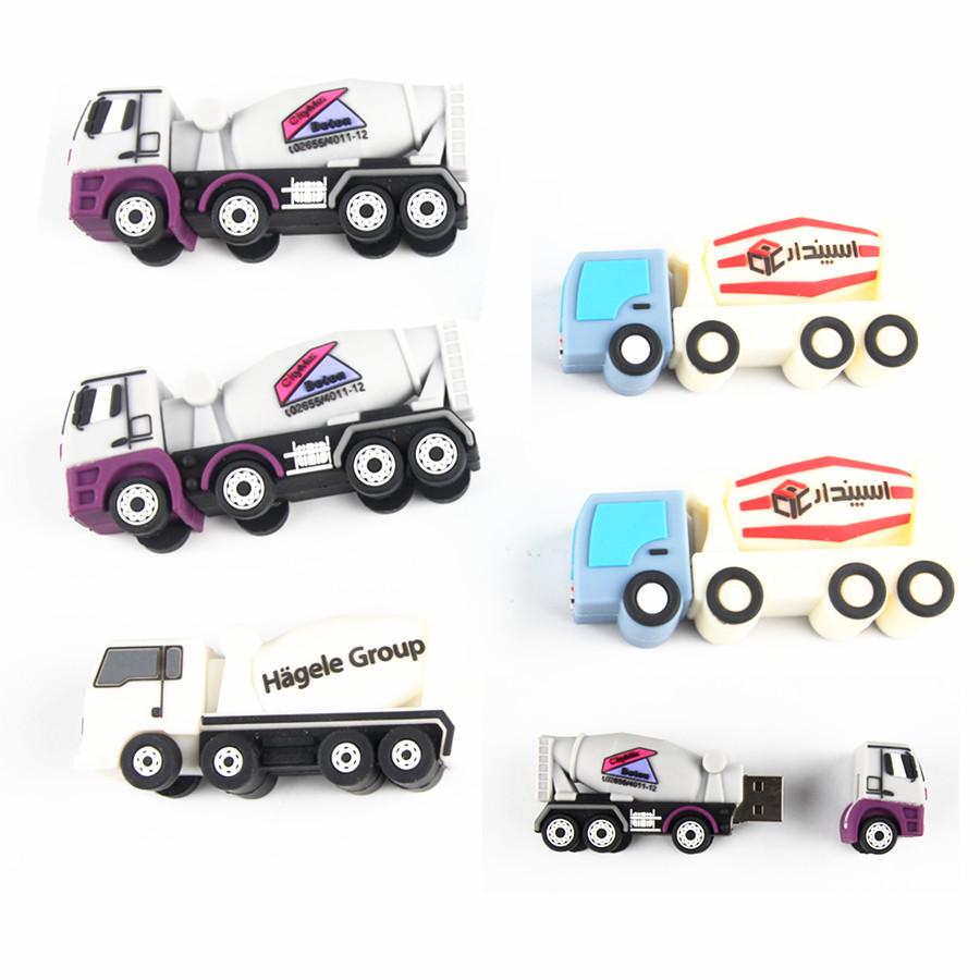 concrete mixer truck shape usb stick soft pvc dump shape usb flash drive - USBSKY   USBSKY.NET