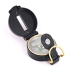 Compass Outdoor Camping Hiking Pocket 3-in-1 Military Style Prismatic Liquid-filled Marching Lensatic Compass Magnetic Compass