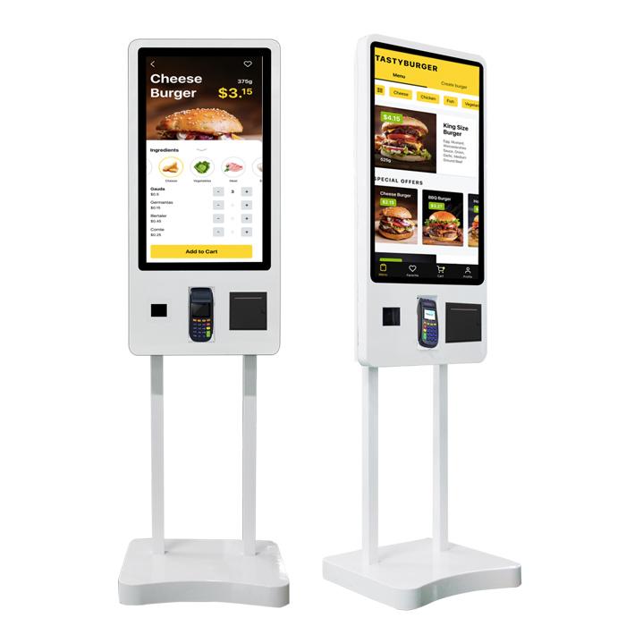 32 дюймов штрих-код qr сканер оплаты заказа ЖК сенсорный экран самообслуживания терминал киоск машина