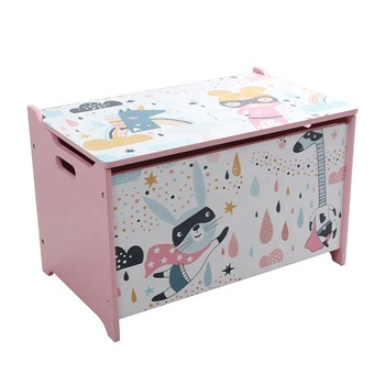Toffy & Friends Water Paint Kids Wooden Toy Storage Box Storage Bench Wholesale Furniture