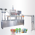 China Supplier Automatic stand up bags Juice Milk Liquid Spout Pouch Filling Machine