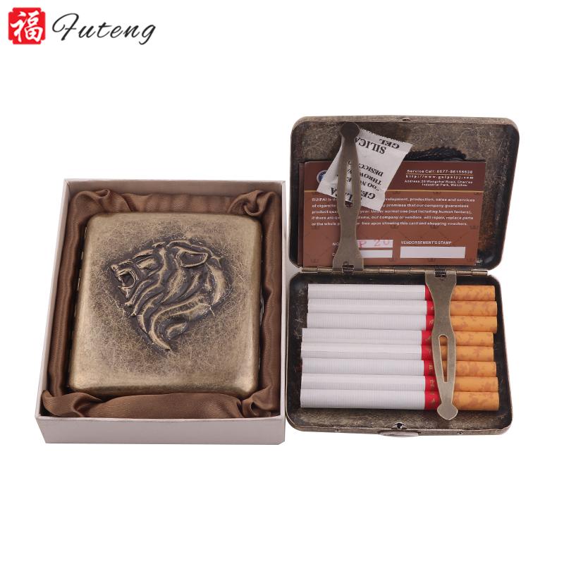 Futeng New Model Metal Cigarette Case 16pcs High Quality Tobacco Cigarette Box Custom Logo
