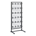Rack Hook Display Rack Ce Certified Custom Retail Supermarket Store Iron Snack Rack Chips Display Stand 7 Shelves For Packs