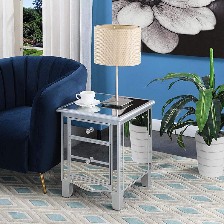 Popular Living Room Furniture Mirrored Media Unit Sideboard