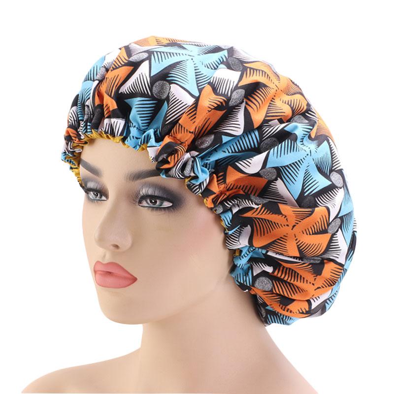 Sleeping cap Ankara and satin bonnet cap