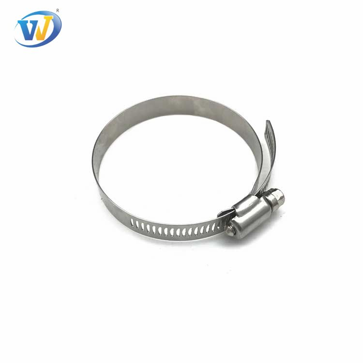 Jinwo parts Adjustable Stainless Steel 304 pipe clip Worm Drive  Worm gear hose clamp W2 W4 For Industrial