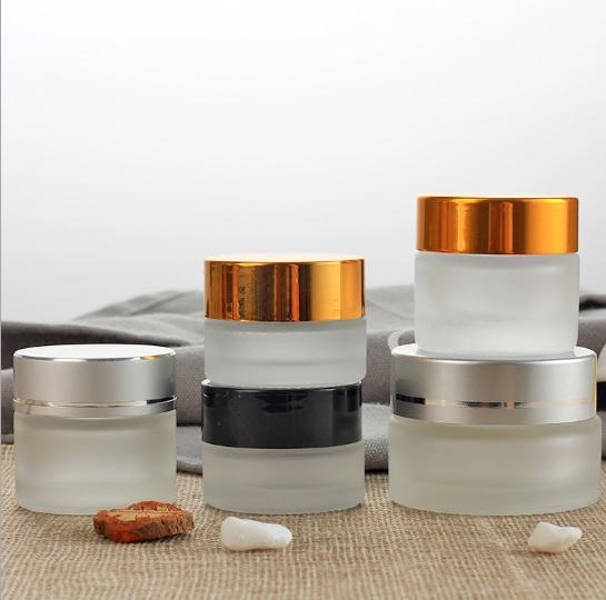Высокое качество Oem обслуживание 30 мл 50 мл 200 г 250 мл матовая Косметическая Стеклянная банка для крема