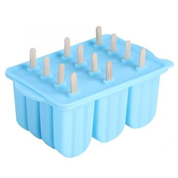 HUAMJ Amazon hot selling Popsicle Molds12 Pieces Silicone Ice Pop Molds BPA Free 12 Grids Silicone Ice Cream Mold
