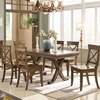 Solid wood dining table + 6 dining chairs