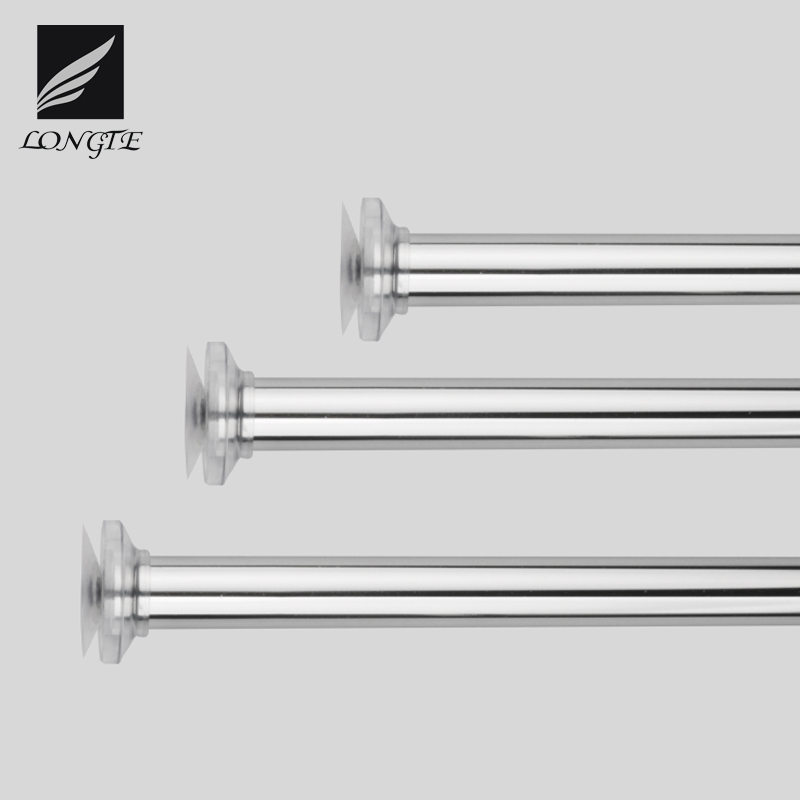 telescopic constant tension stainless steel shower curtain rod for bathroom