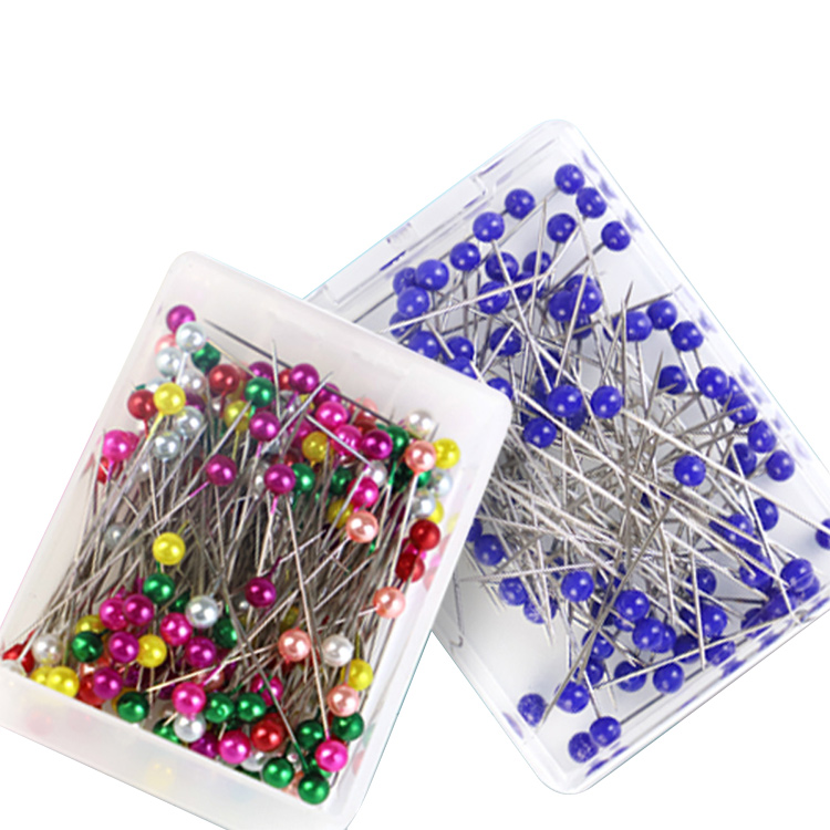 Stainless Steel Sewing Accessories Pearl Straight Round Pins Ball Needles With Head