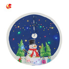 Decorative Lights Hot Sale Led Decorative Tree Skirt Heat Transfer With Lights Christmas Tree Skirt Wholesale