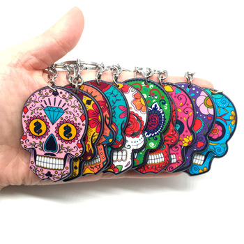 Celebrate Mexican Day of the Dead Halloween Acrylic Key Chain
