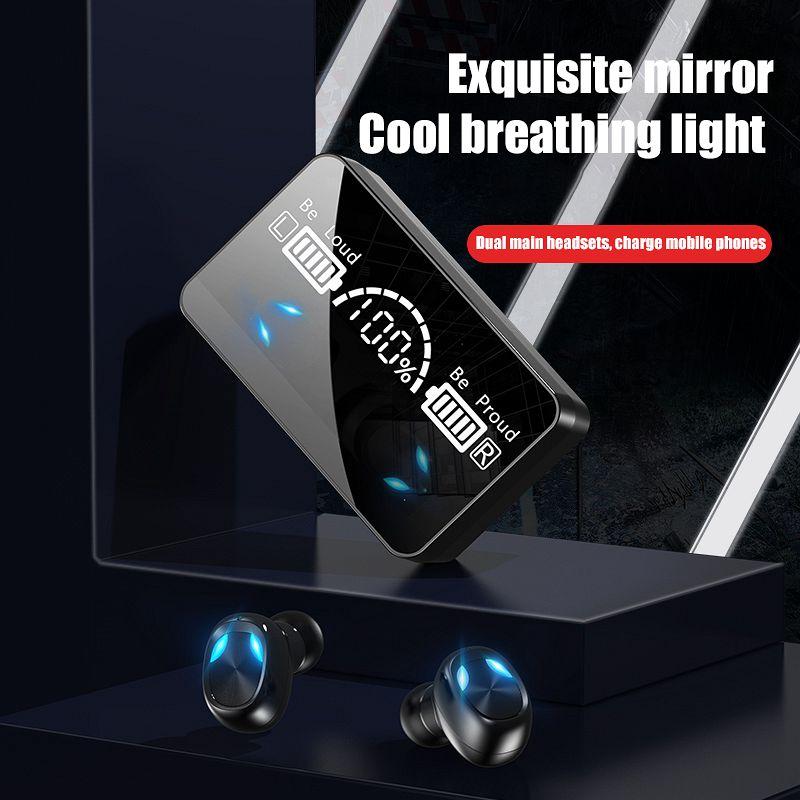 Audifono X3 Tws HD зеркальные светодиодные наушники с цифровым дисплеем Hifi гарнитура с Шумоподавлением беспроводные наушники