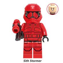 Legoed НОВЫЙ Звездные войны Rey Finn Kylo Ren Drak Rey Lando Chewbacca Palpatine Baby Yoda Sith Stormer Raider Kara Dunn buidling bocks(Китай)