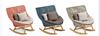 rocking sofa chair with teak wood leg
