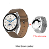 Silve-brown leather