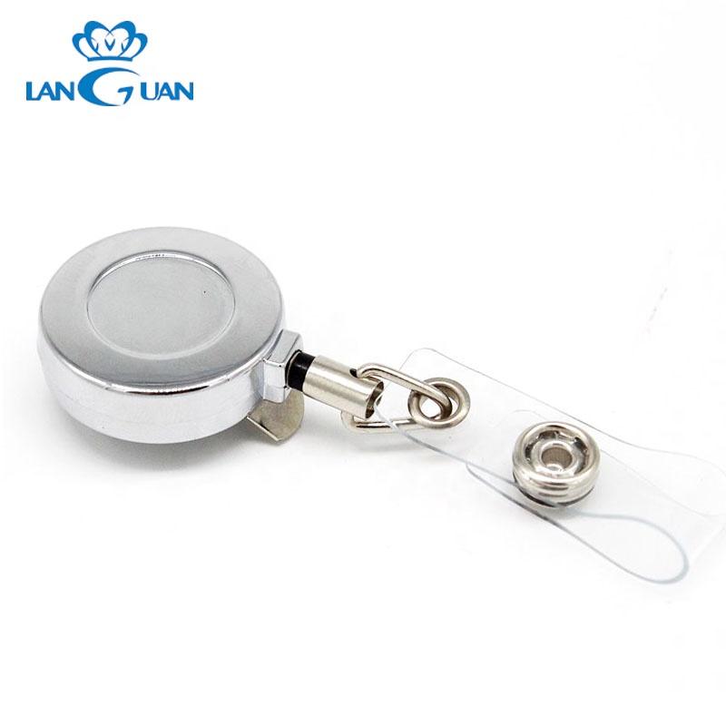 Металлический шнурок ID держатель для ключей выдвижная катушка