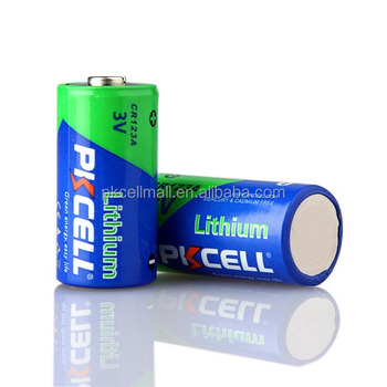PKCELL 2020 New non-rechargeable small lithium 3v cr123 CR123A battery for flashlight
