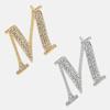 M - 18k gold or rhodium