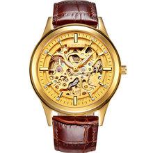 Reloj Hombre AESOP Gloden Скелет механические часы для влюбленных автоматические часы мужские и женские стальные часы Relogio Feminino(Китай)
