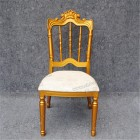 Royal Wedding Event Wedding Chair Napoleon Modern Royal Gold Wooden Finish Hotel Banquet Wedding Event Chairs