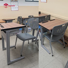 School Furniture Wooden Chair And Table School Furniture Classroom Study Desk Wood Single Double For College Students