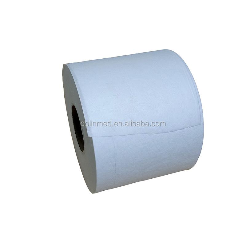 Белый нетканый аэродинамическим способом из расплава ткань