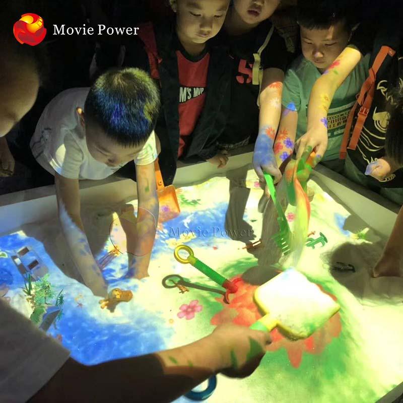 Children Park Machine Multiplayer Game Kids Interactive Sand Box Projector System