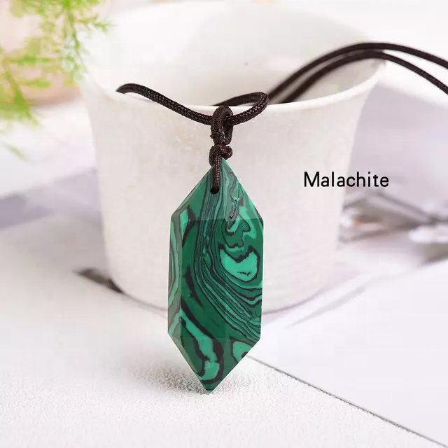 NEW PRODUCT SEMI PRECIOUS LANDSCAPING MALACHITE CRYSTAL DOUBLE POINT