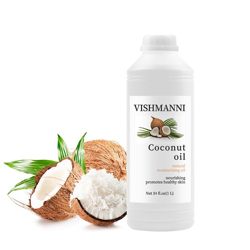 Холоднопрессованное органическое Фракционное Экстра натуральное кулинарное кокосовое масло для ухода за волосами по заводской цене
