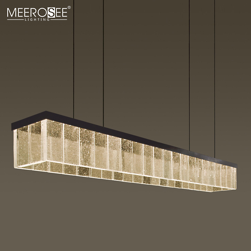 MEEROSEE High Quality Residential Fixtures Decorative Cafe Home Modern Acrylic LED Pendant Lamp MD86750