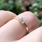 Diamond Ring Gold With Gold Popular INS Jewelry HPHT Lab Diamond D/E VS Diamant Ring 18 Karat Gold With Cvd Lab Grown Diamond Ring Jewlery For Gifts