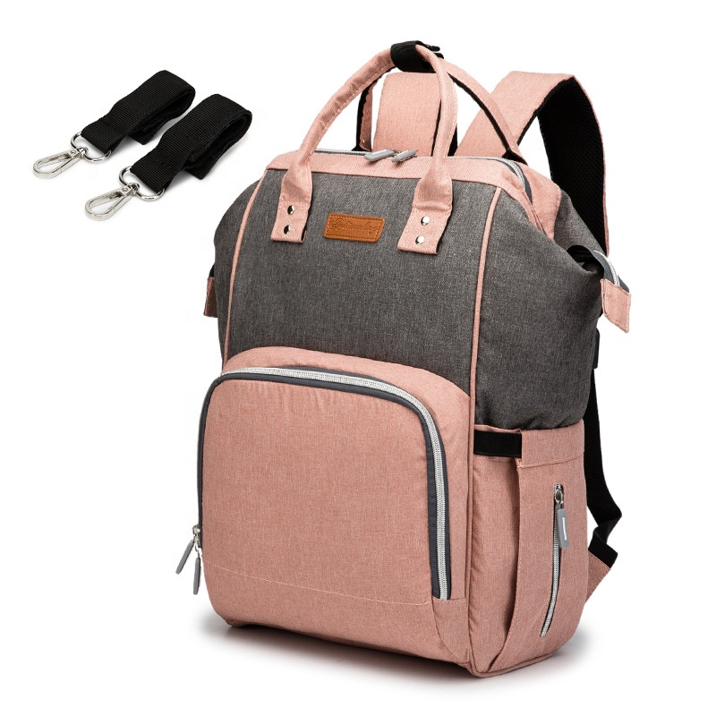 Fashionable Quilted Material Mummy Bag Baby Diaper Backpack
