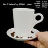 320 ml/ถ้วยกาแฟและจานรอง