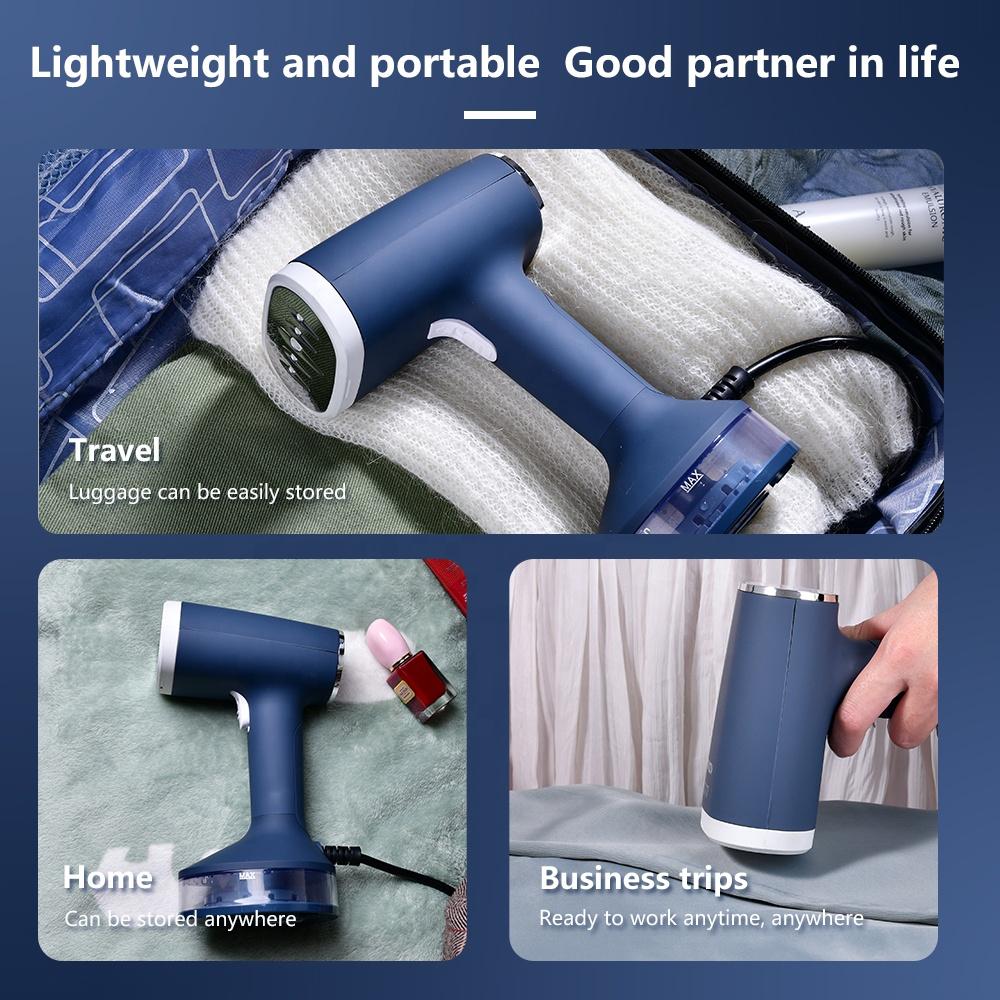 Ручной отпариватель для тканей KONKA, мощный отпариватель для одежды 140 Вт быстрого нагрева за 15 секунд для дома и путешествий, портативный паровой утюг, 1200 мл