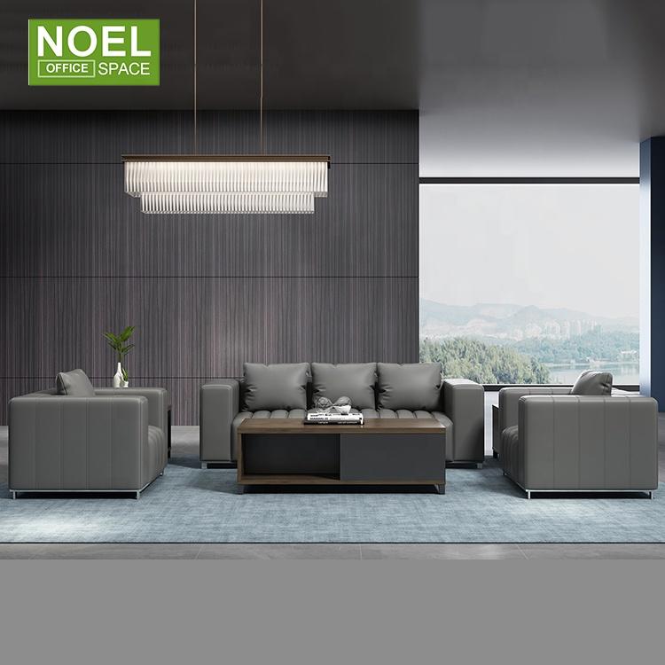 Новый дизайн, Современная комната ожидания, три места, I-образный диван, кожаный диван