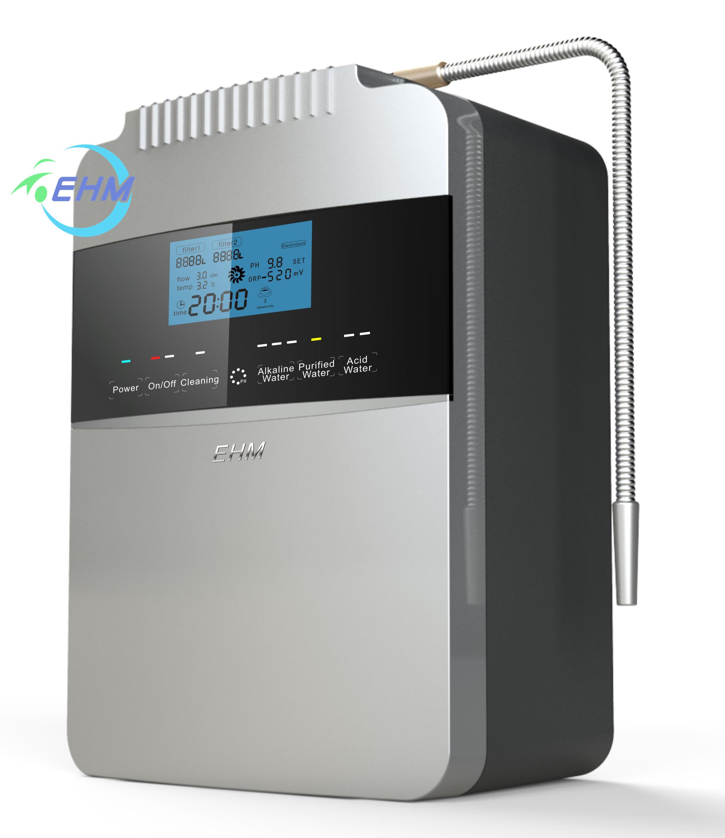 Совершенно новый большой 8 пластин kangen машина щелочной воды ионизатор воды чайник