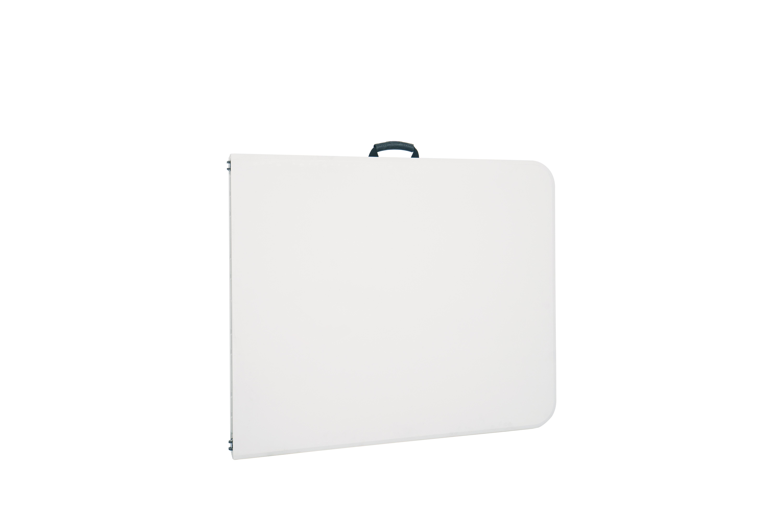 Белый прямоугольный пластиковый складной стол для улицы, 6 футов