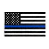 Thin Blue Line Embroidery USA Flag
